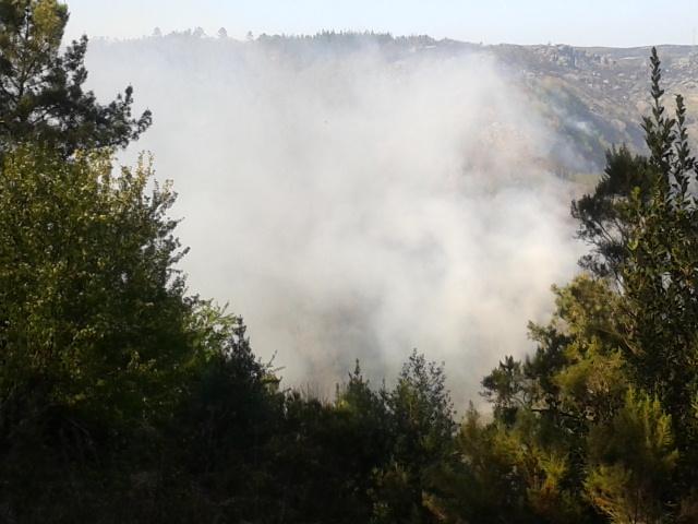 Imaxe do incendio polo día